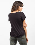 Back View of Pocket V-Neck Tee