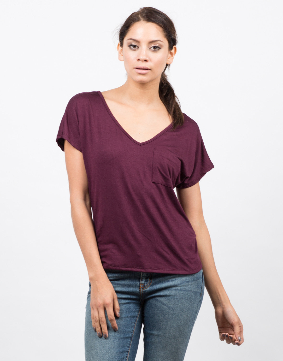 Pocket V-Neck Tee - 2020AVE