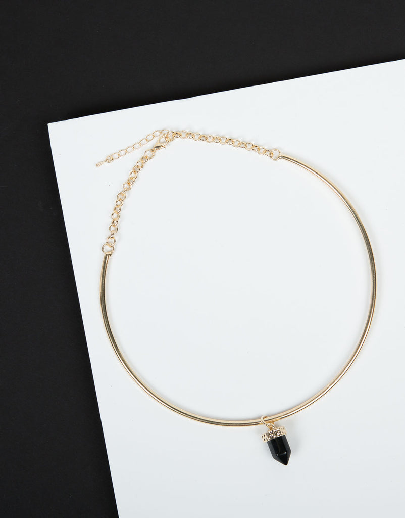 Pointed Jewel Collar Necklace - 2020AVE