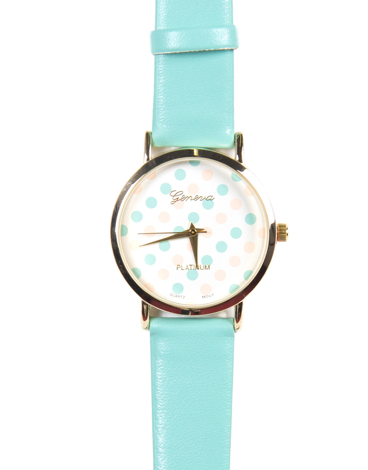 Polka Dotted Watch - Mint