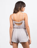 Back View of Pom Pom Romper
