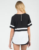 Back View of Preppy Contrast Top
