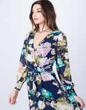 Detail of Pretty Floral Wrap Dress