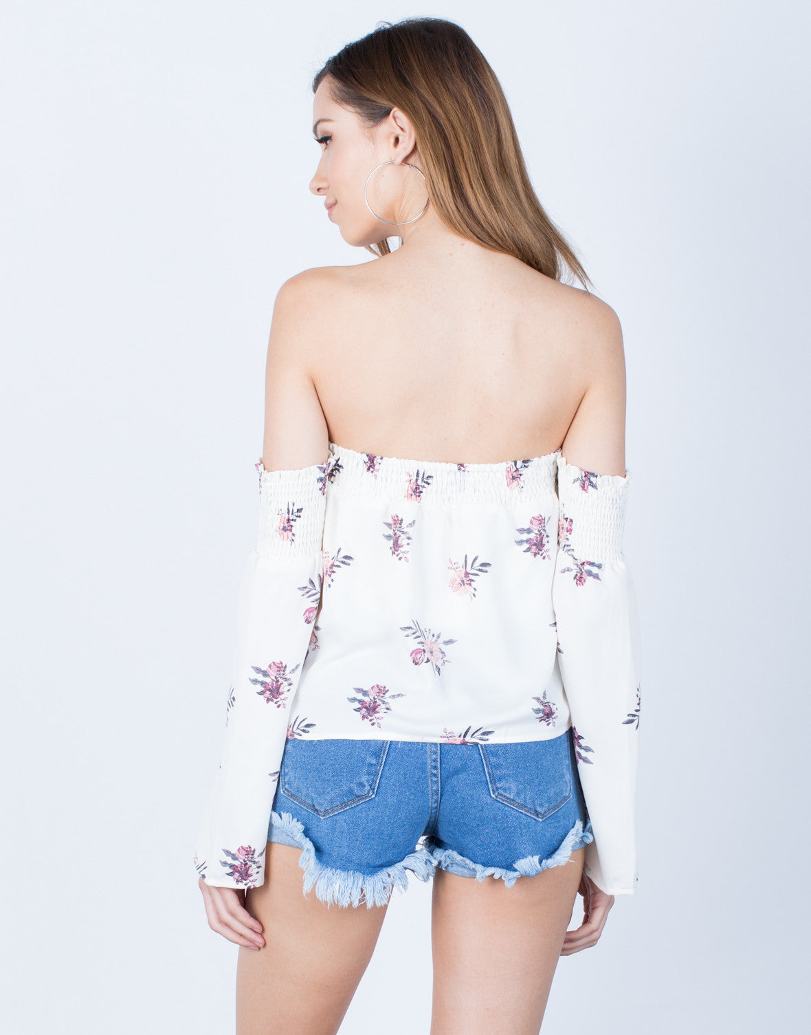 Back View of Pretty in Floral Top