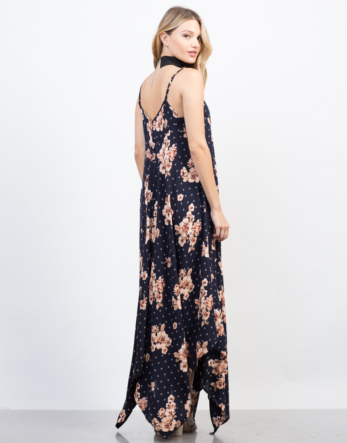 Back View of Pretty in Florals Maxi Dress
