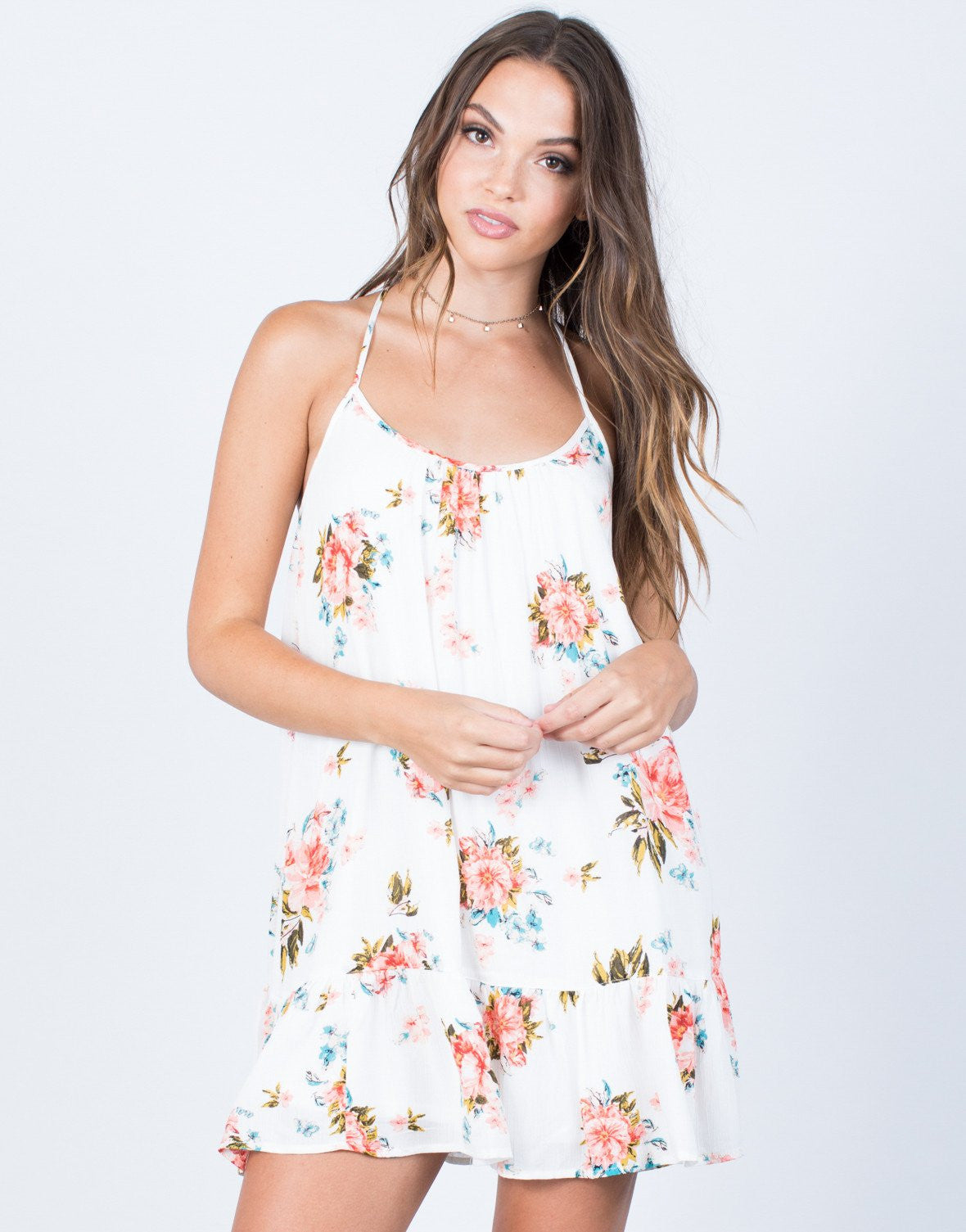 Pretty Ruffled Day Dress - 2020AVE