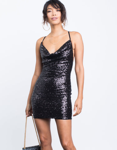 Pretty Sequin Party Dress - 2020AVE