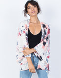 Light Pink Pretty Watercolor Cardigan - Front View