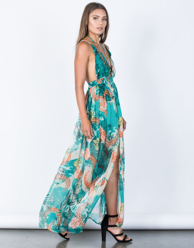 Pretty Watercolor Maxi Dress - 2020AVE