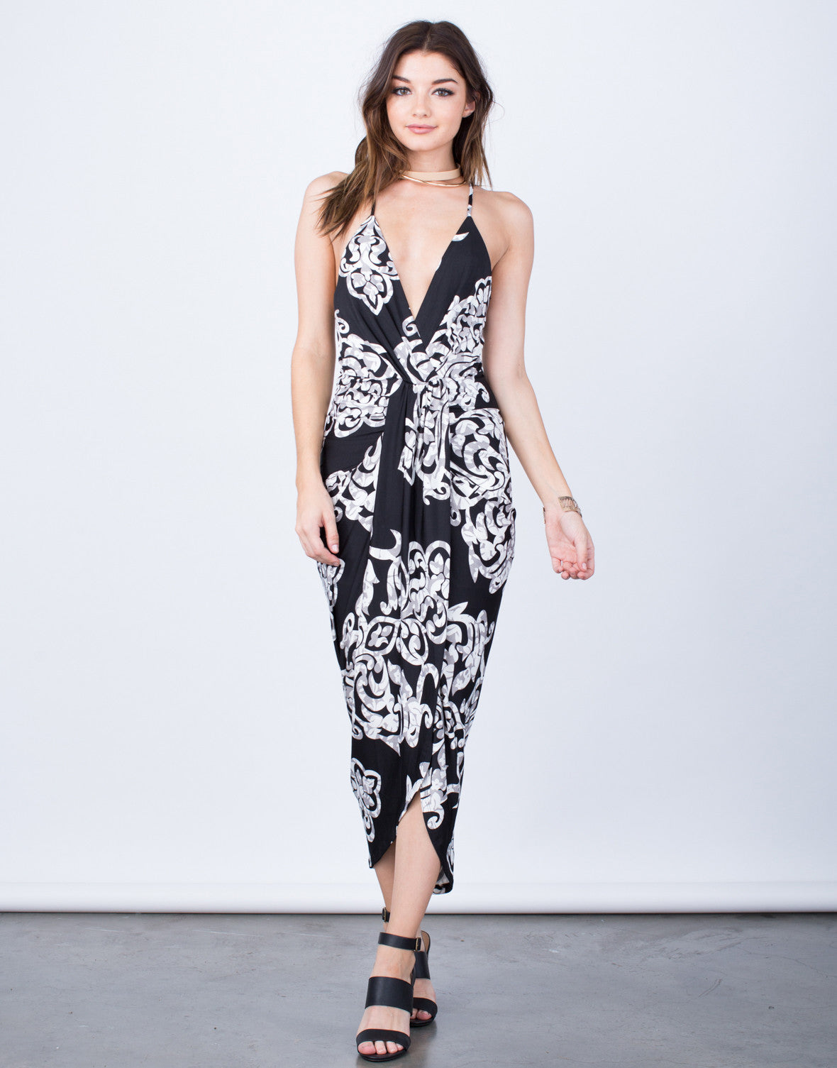 Printed Drapey Dress - 2020AVE