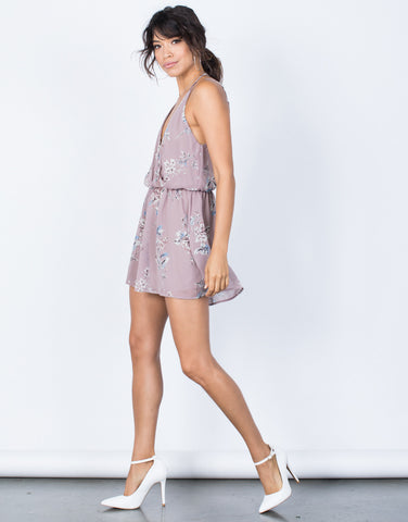 Lavender Pure Bliss Romper - Side View