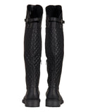 Quilted Back Riding Boots - Black