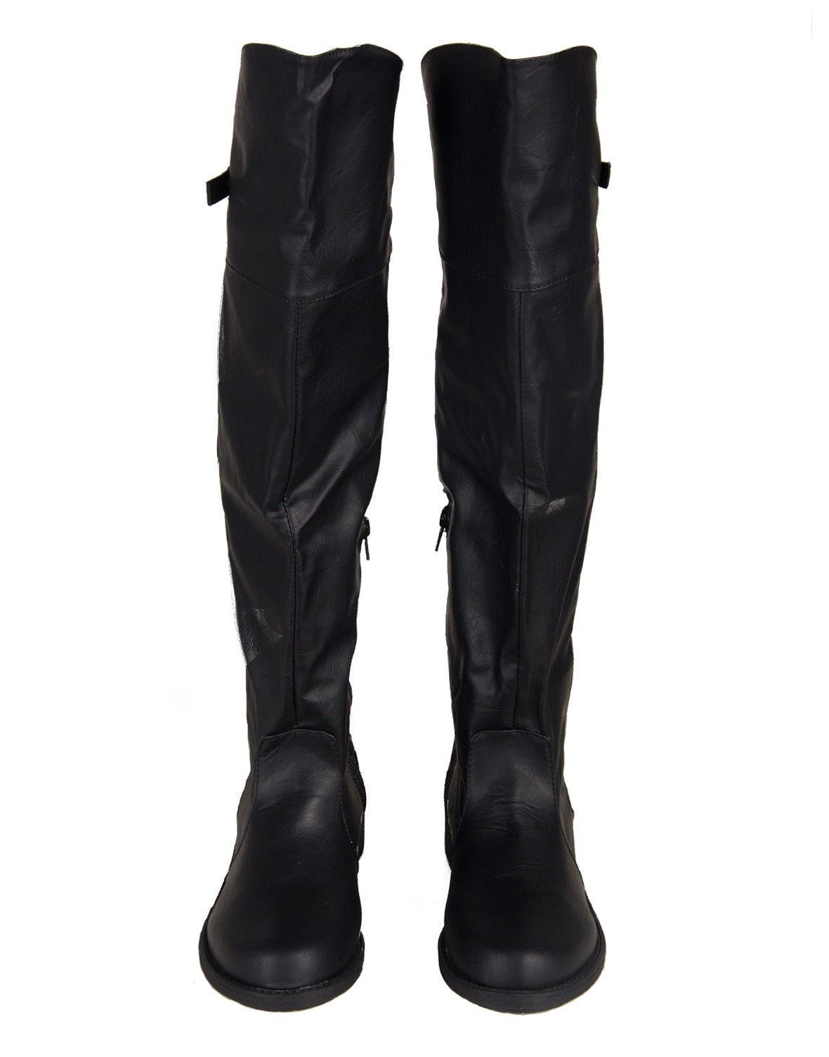 Quilted Back Riding Boots - Black - 2020AVE