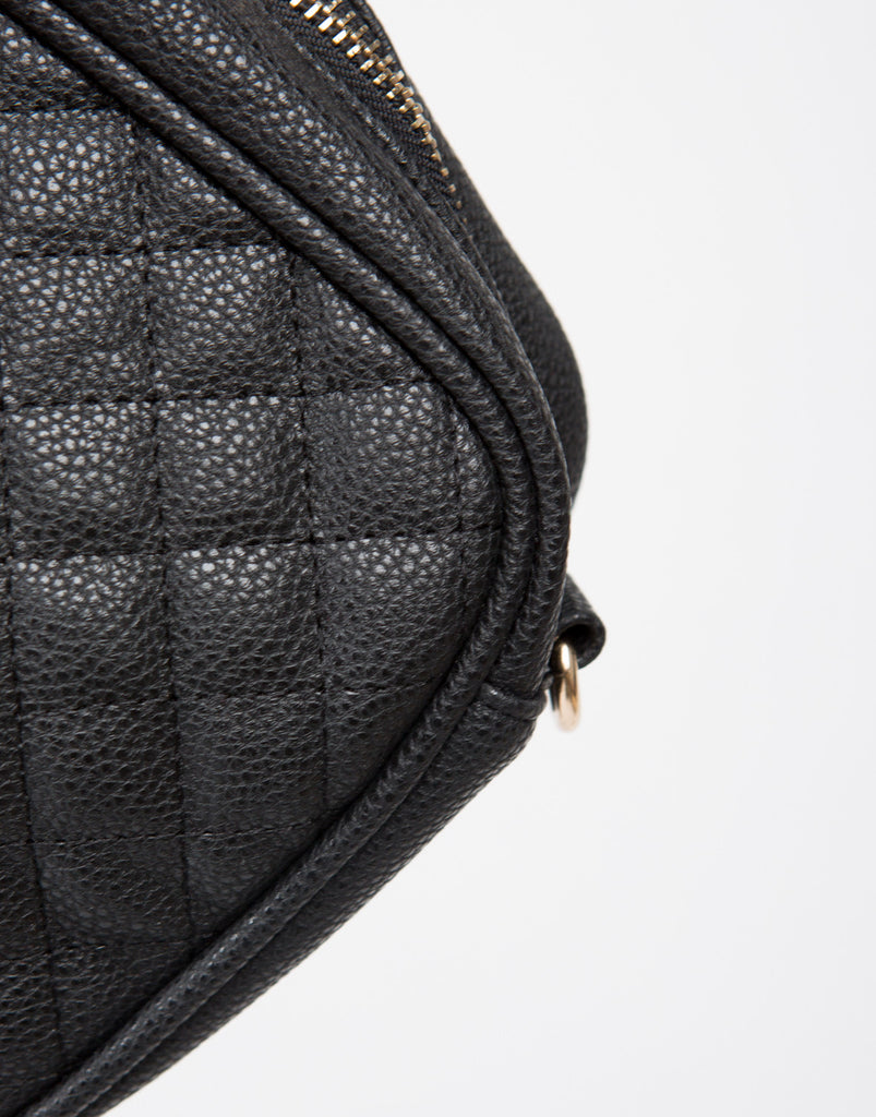Quilted Leatherette Crossbody Bag - 2020AVE