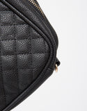 Quilted Leatherette Crossbody Bag
