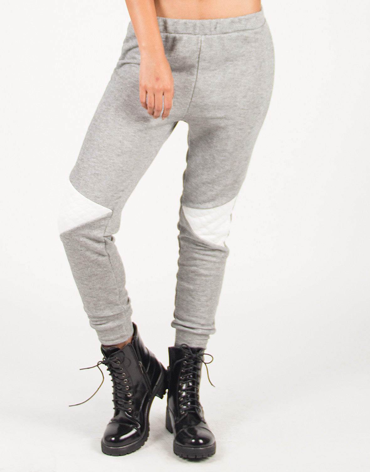 Quilted Patch Jogger Pants