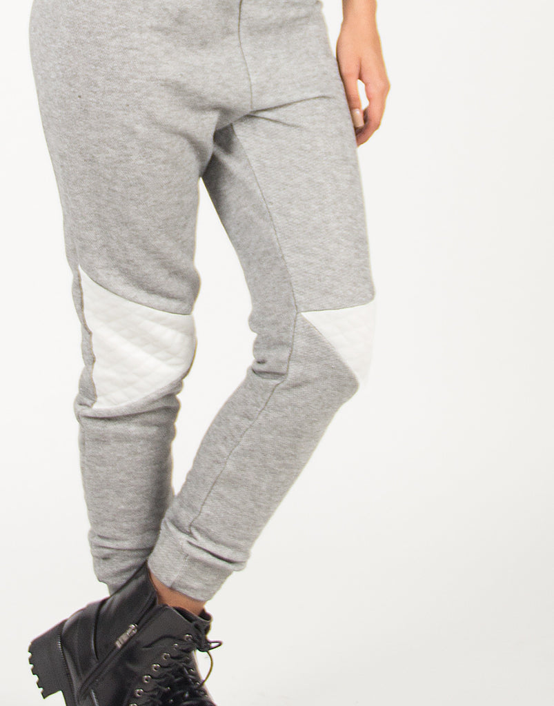 Quilted Patch Jogger Pants - 2020AVE