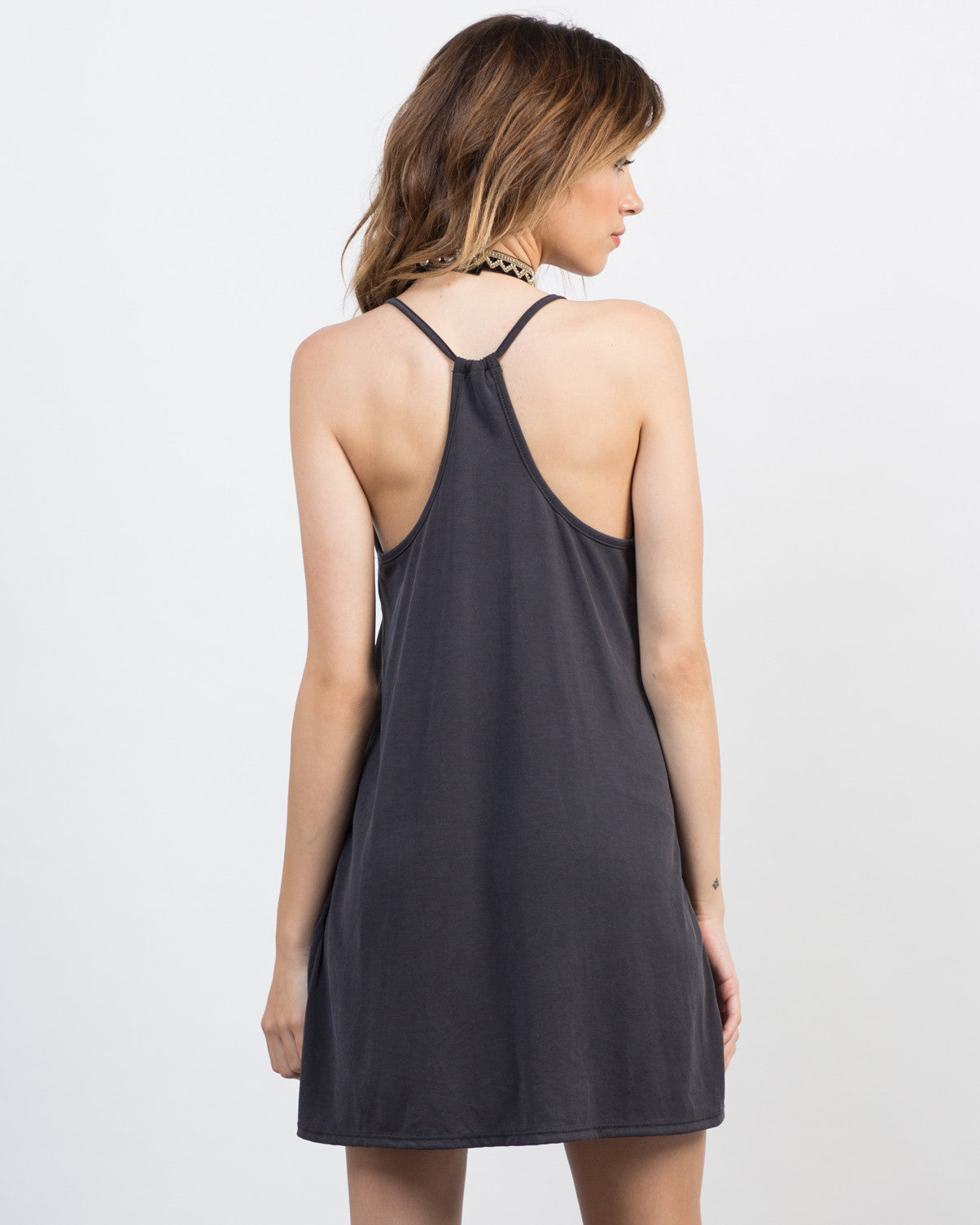 Back View of Racerback Cami Dress