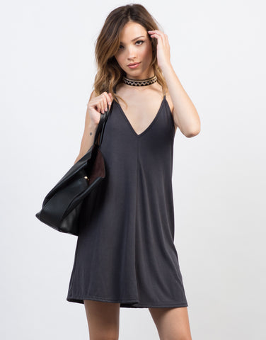 Front View of Racerback Cami Dress
