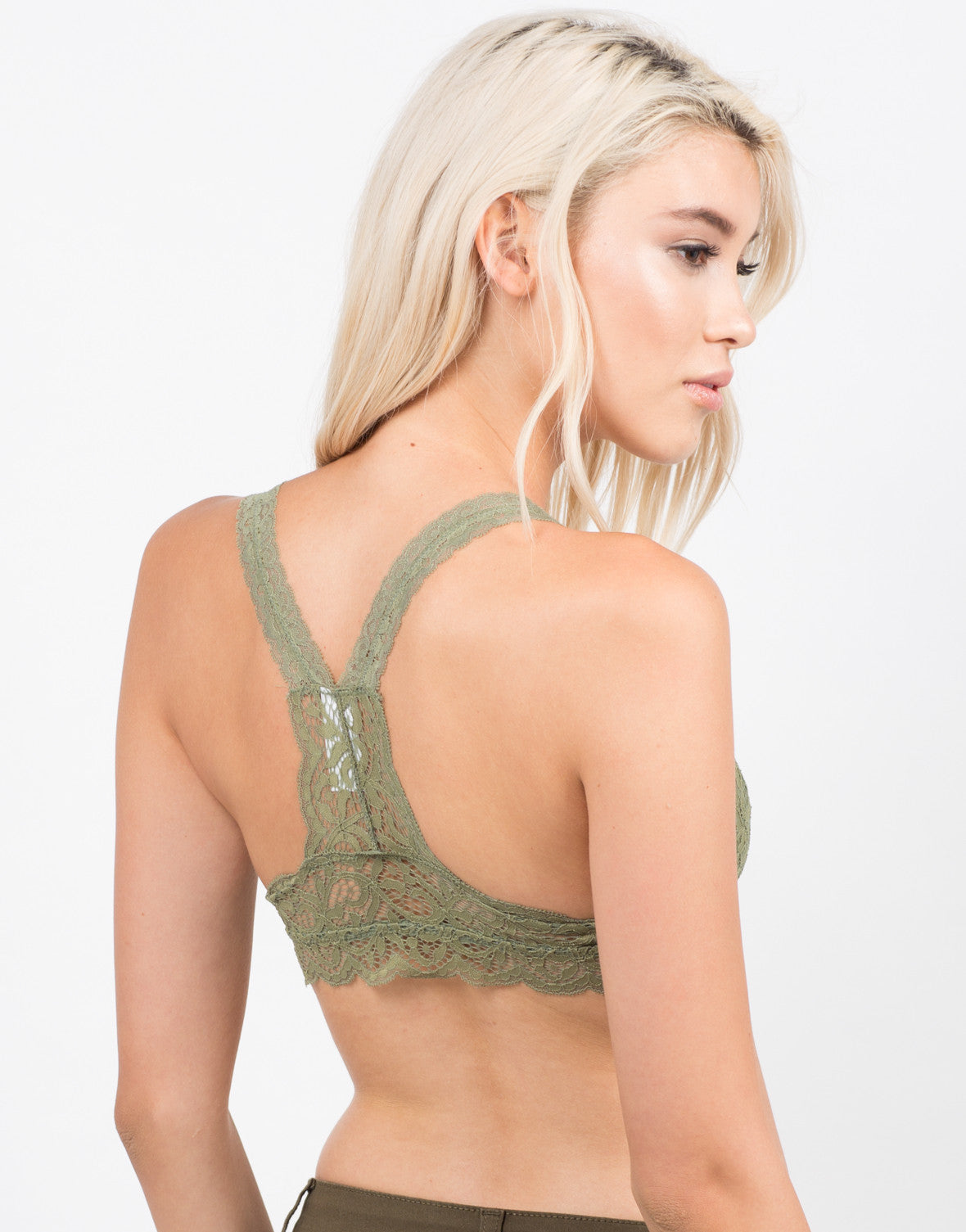 Back View of Racerback Lace Bralette