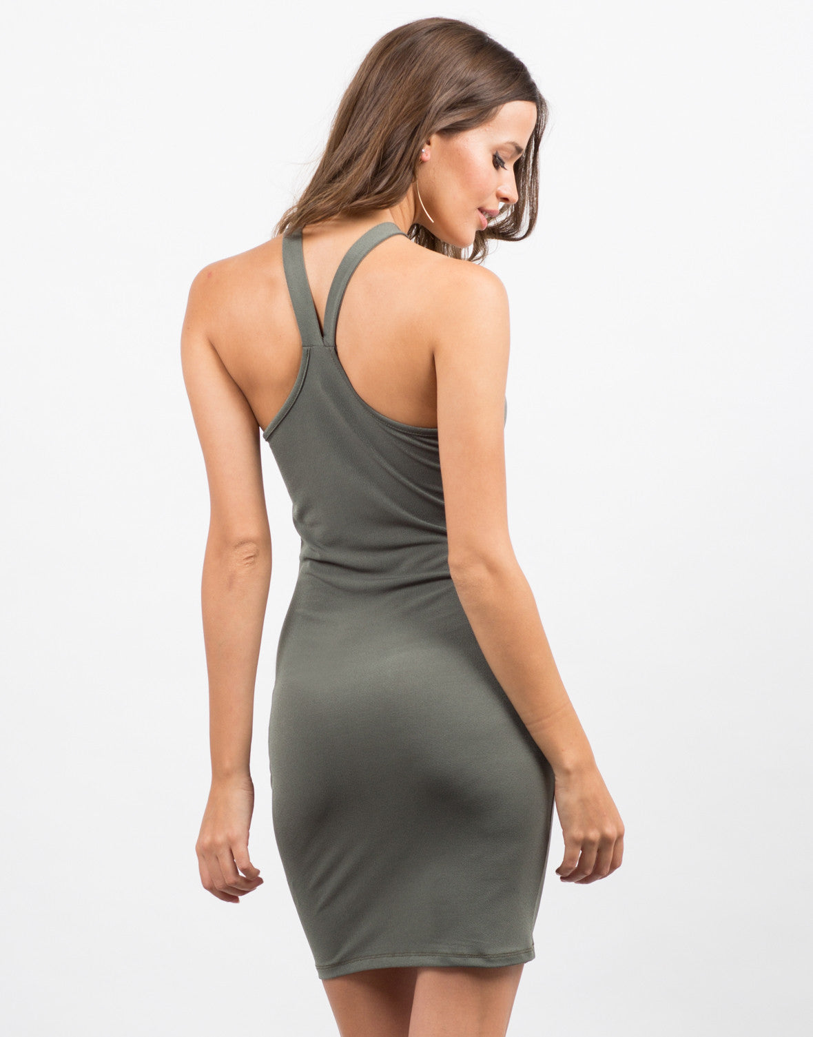 Back View of Racer Bodycon Dress