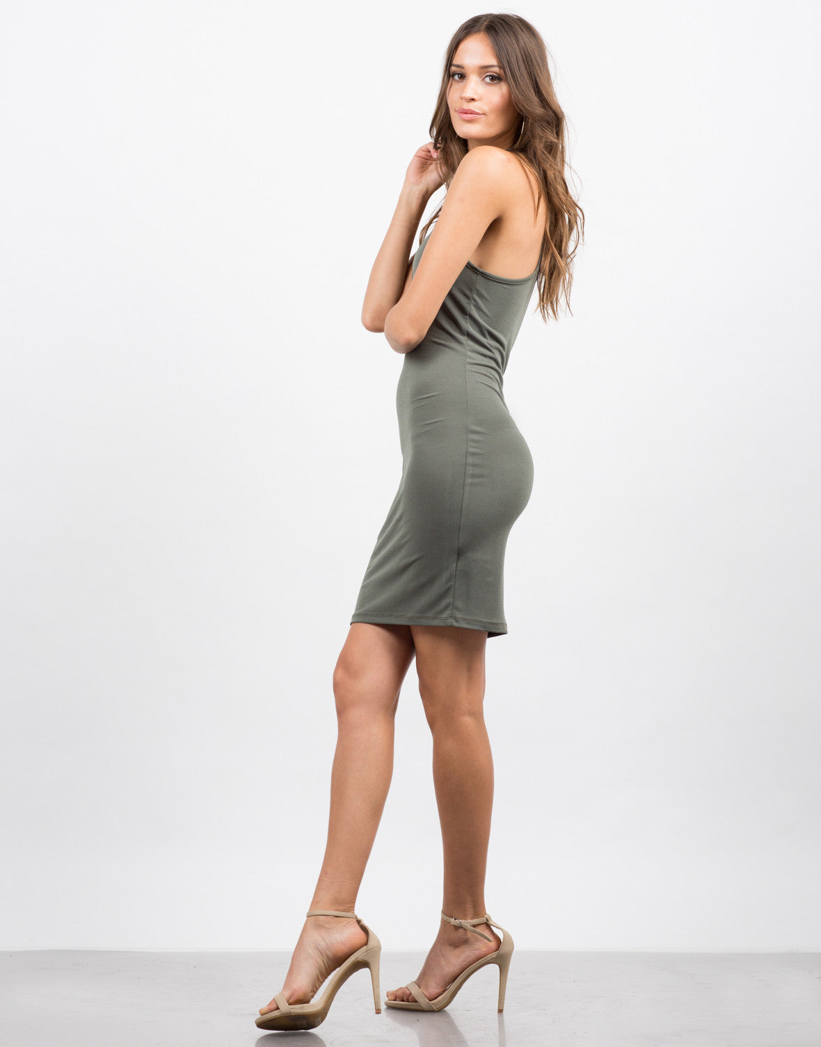 Side View of Racer Bodycon Dress