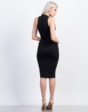 Back View of Racer Midi Dress
