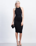 Front View of Racer Midi Dress