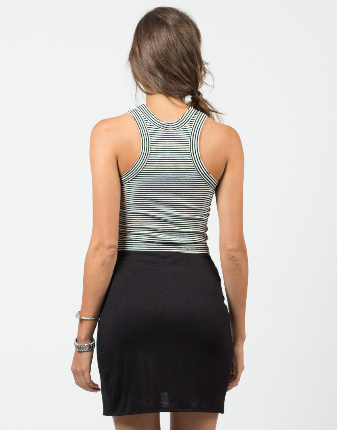 Back View of Racer Striped Tank