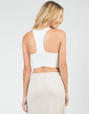 Back View of Racer T-Back Cropped Tank
