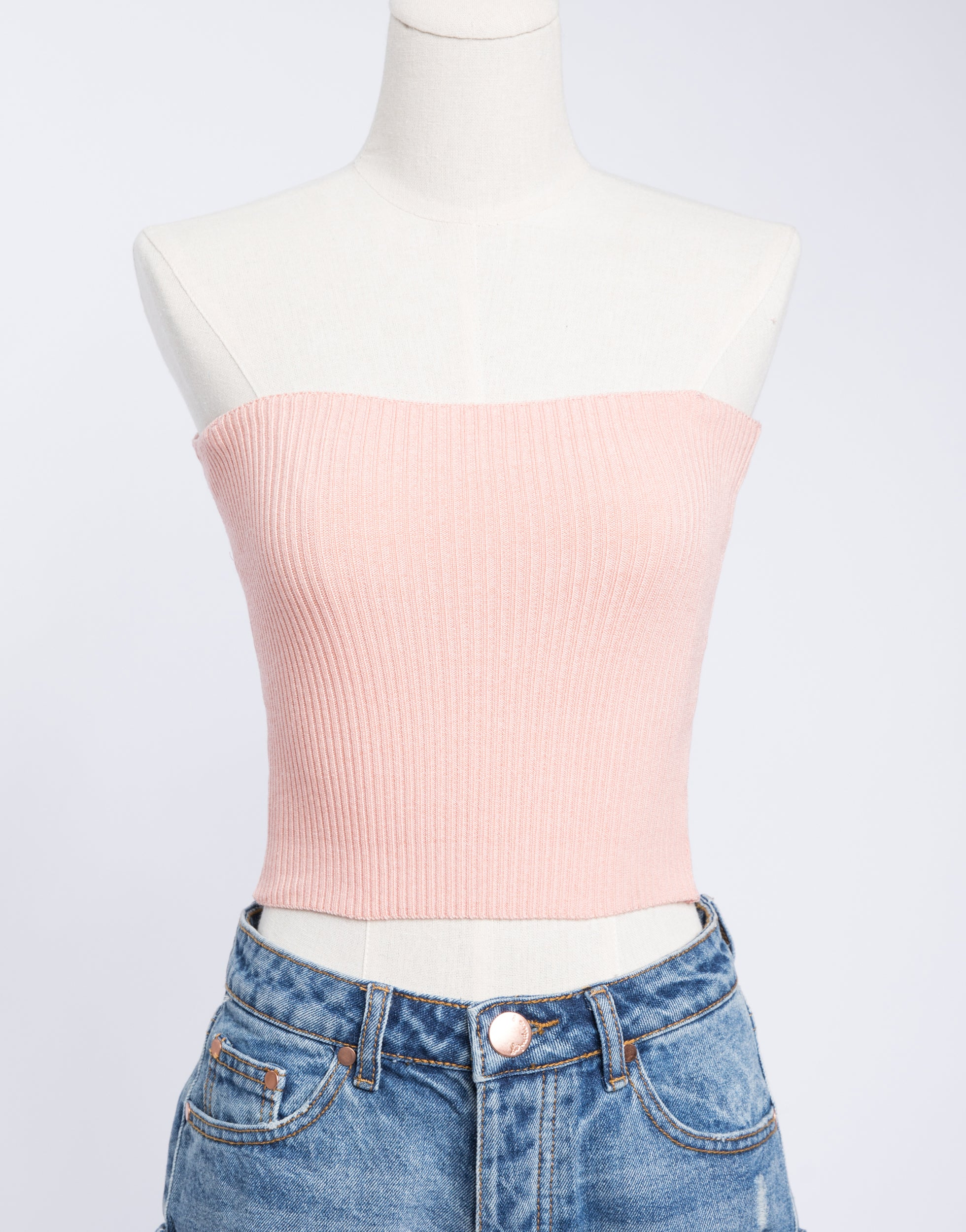 Strapless Top Pink