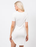 Back View of Rayon T-Shirt Dress