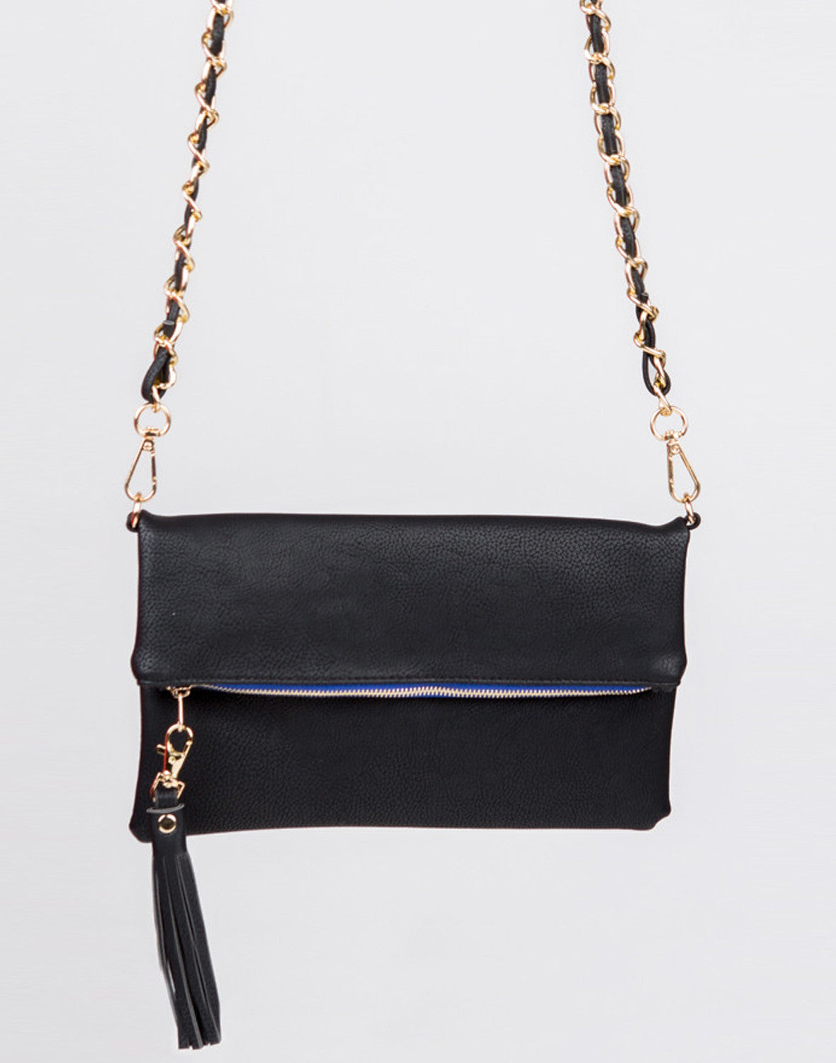 Front Detail of Crossbody Foldover Clutch