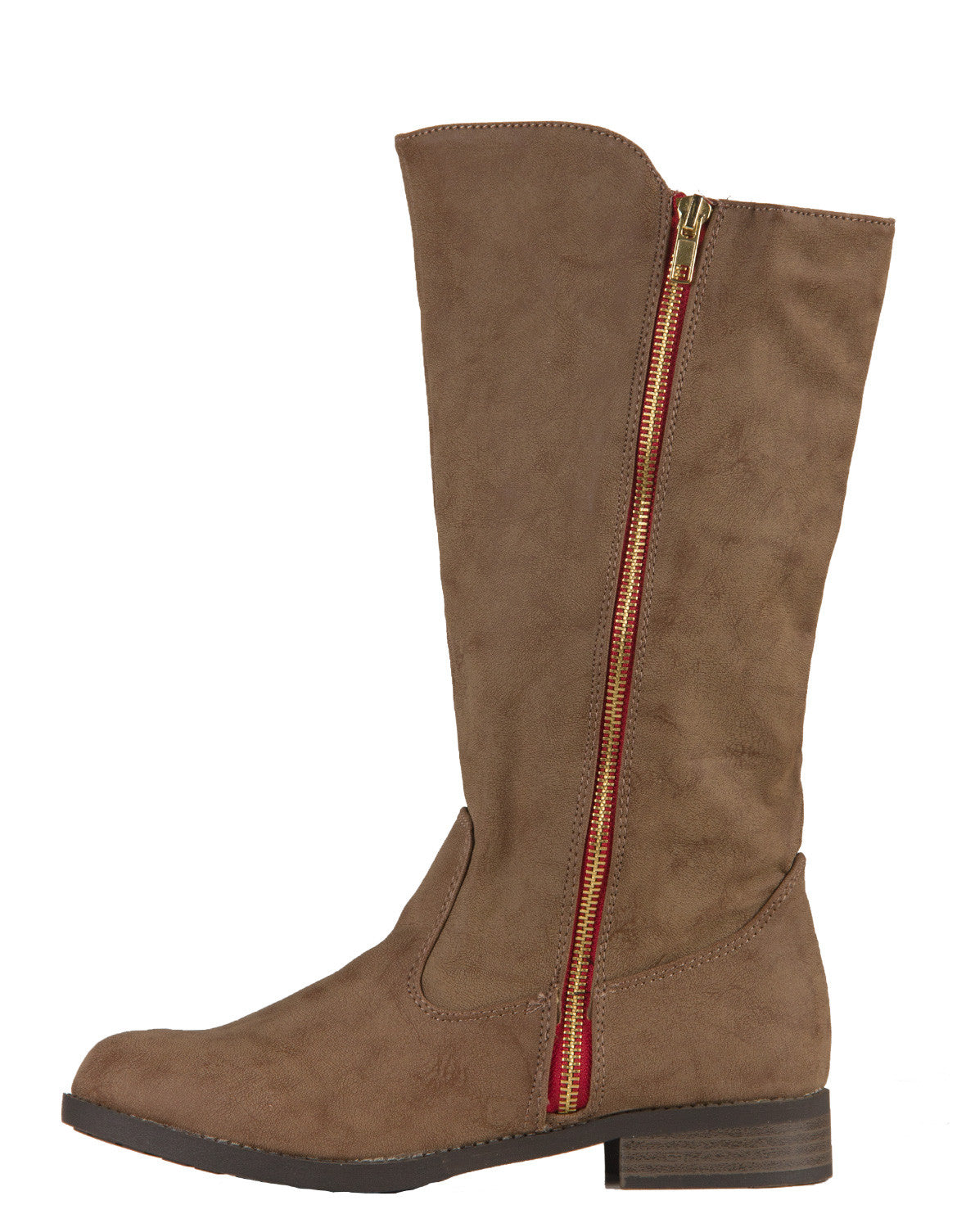 Red Zipper Western Tall Boots