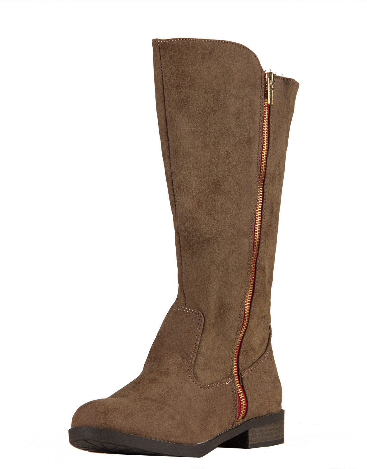 Red Zipper Western Tall Boots - 2020AVE