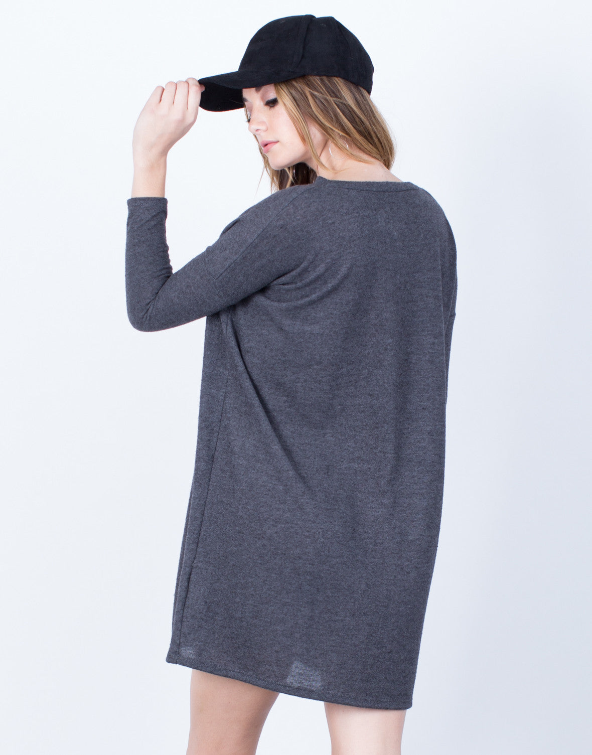 Back View of Relaxed Knit Dress