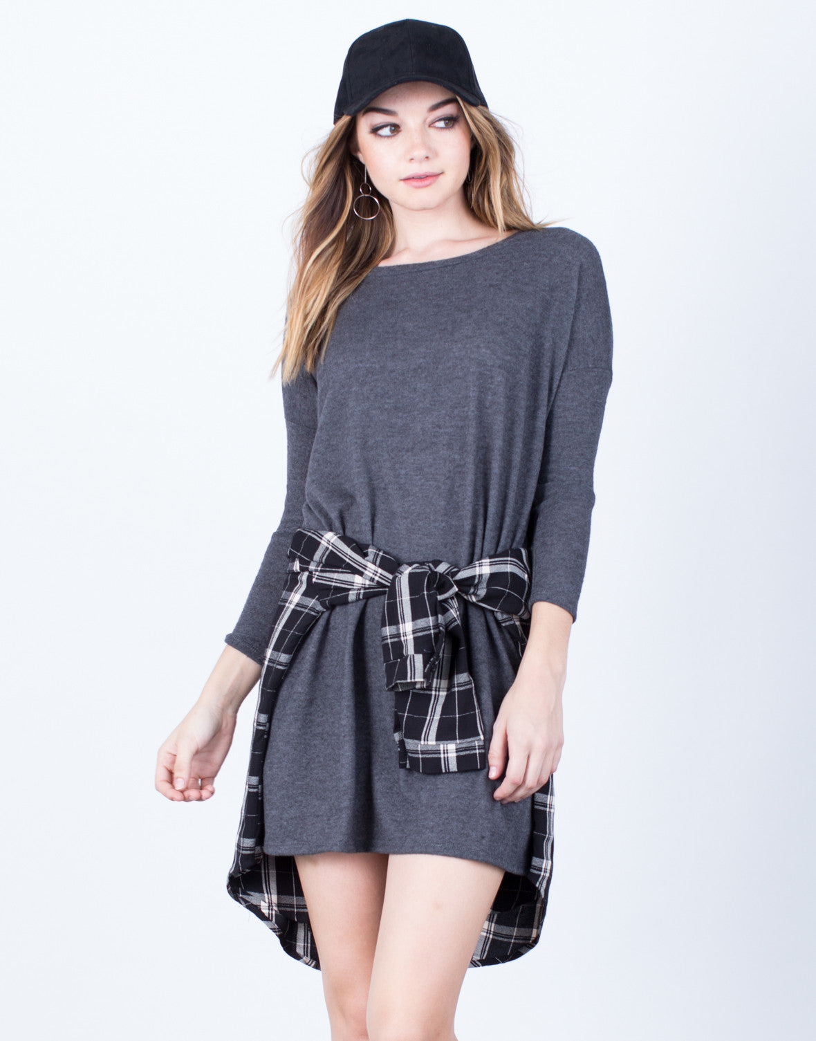 Front View of Relaxed Knit Dress
