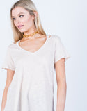Detail of Relaxed V-Neck Tee