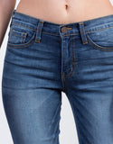 Detail of Released Cuff High Waisted Skinny Jeans