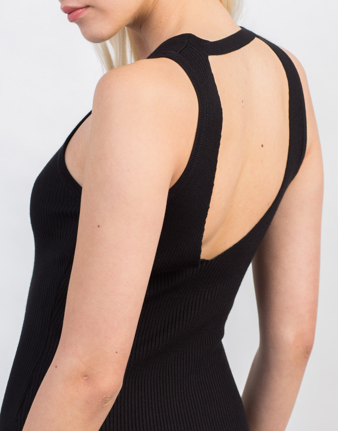 Detail of Rib Knit Bodycon Dress