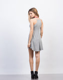 Back View of Rib Knit Swing Dress