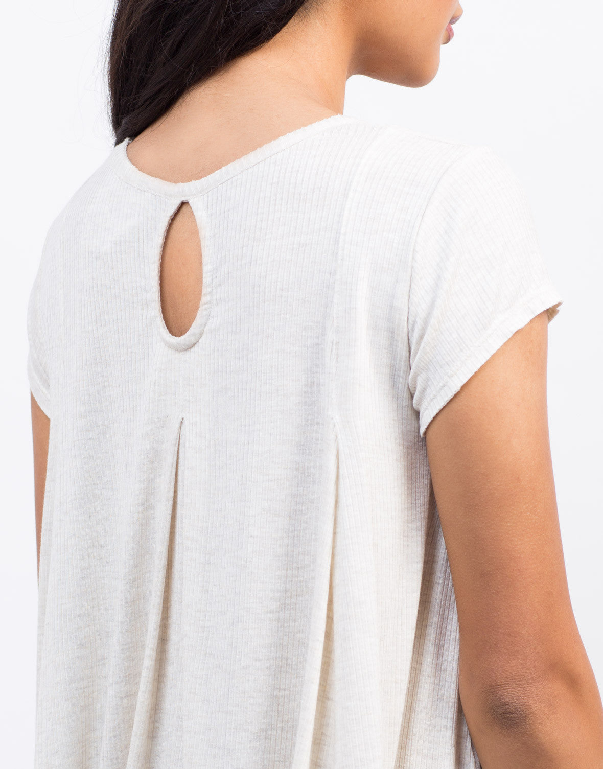 Detail of Ribbed Babydoll Tee