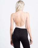 Back View of Ribbed Ballerina Bodysuit