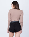 Back View of Ribbed L/S Bodysuit