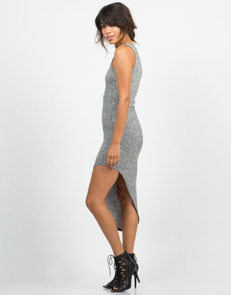 Ribbed Asymmetrical Dress - 2020AVE