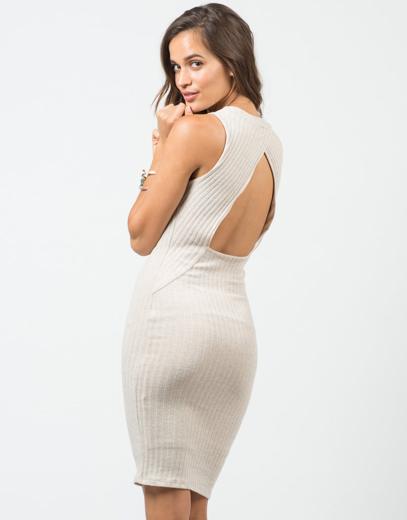 Ribbed Backless Dress - 2020AVE