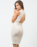 Back View of Ribbed Backless Dress