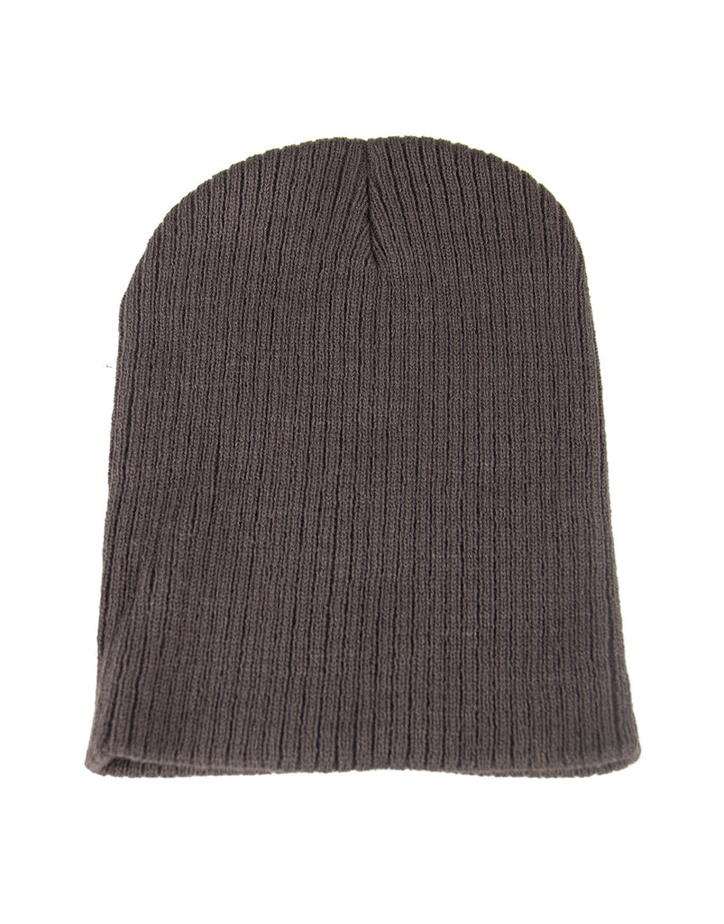Ribbed Beanie - Charcoal - 2020AVE