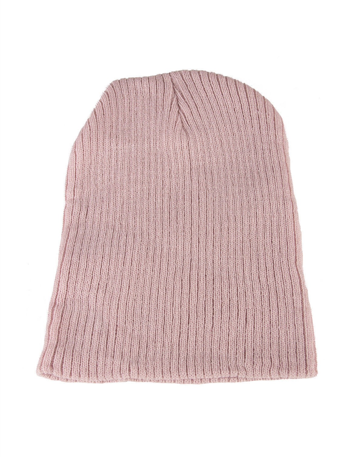 Ribbed Beanie - Pink