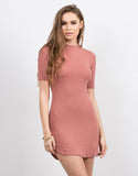 Ribbed City Mini Dress - Large - 2020AVE